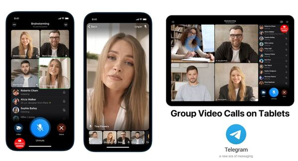 Telegram launched group video call service