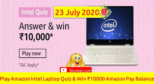 Amazon Intel Laptop Quiz Answers