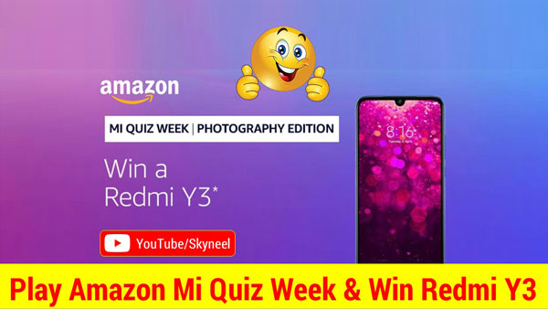 Amazon MI Quiz Week Answer Photography Edition