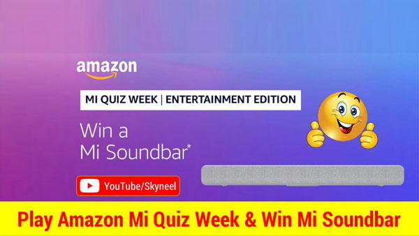 Amazon MI Quiz Week Answer Entertainment Edition