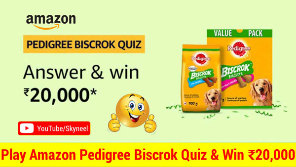 Amazon Pedigree Biscrok Quiz Answer
