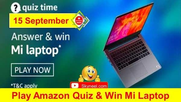 Amazon Quiz Answers - Mi Laptop