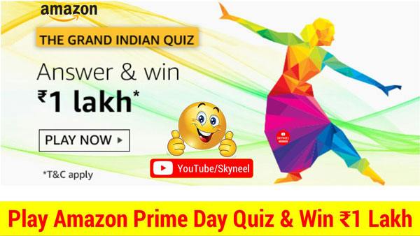 Amazon The Grand Indian Quiz Answer - ₹1 Lakh