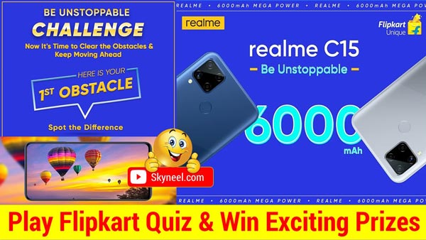 Flipkart Realme C15 Quiz Answers