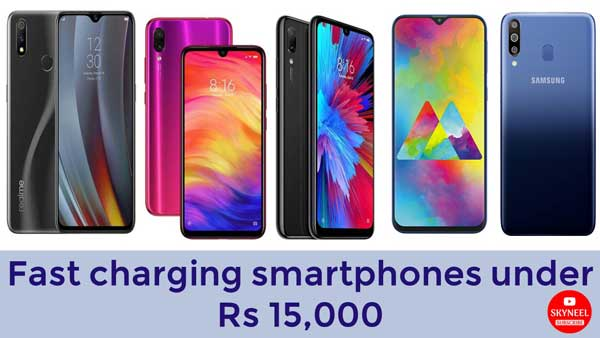 Fast charging smartphones under Rs 15,000