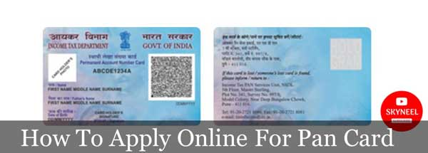 Apply Online for PAN Card